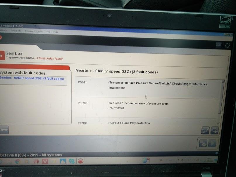 2011 Skoda Octavia 1,6 tdi 7-trinn DSG med girproblemer  - Octavia